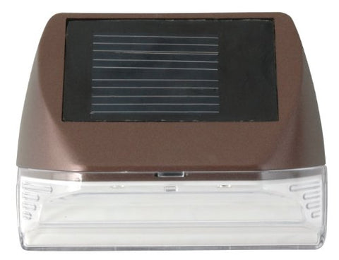 Moonrays 95028 Solar Deck Wall Mounted Sconce (Warm, White LED Light, Mini-Rectangle