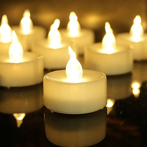 Frestree Flameless Candles, Flameless Candles Timer Flameless Flickering Votive Tea Lights Candles Bulk Battery Operated, Led Candles Bulk(Warm White 12 Pack) - llightsdaddy - frestree - Flameless Candles