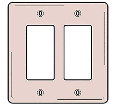 Bryant Electric NP26W 1-Gang 1 Decorator/GFCI Wall Plate, White - llightsdaddy - Bryant Electric - Wall Plates