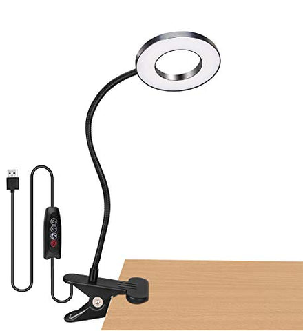 Book Reading Light in Bed - Clip on Lamp with 3 Brightness, Great for Bedside, Makeup Mirror, Headboard, Office, Desk, Dorm Room, Piano, Laptop and Daily Use (Black) - llightsdaddy - HQOON - Book Lights