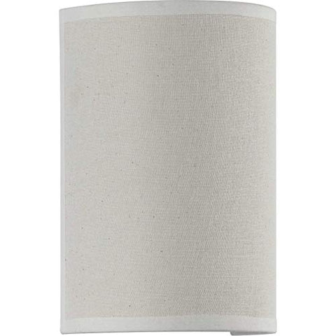 "Progress Lighting P710071-159-30 Inspire LED Wall Sconce with Off-White Linen Shade, 9"" x 6-1/4"""