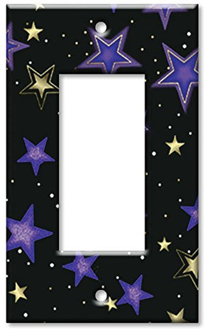 Single Gang Rocker Wall Plate - Stars - llightsdaddy - Art Plates - Wall Plates