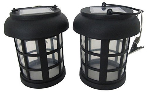 "Smart Solar 3782WRM2 4.5"" Black Umbrella Hanging Solar Lanterns 2 Count - llightsdaddy - Smart Solar - Umbrella Lights"