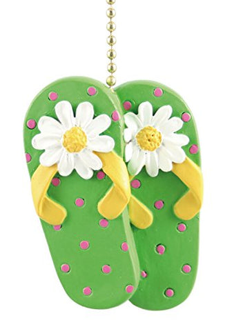 TiKi Beach Sandals FlipFlops Decor Ceiling Fan Light Pull  Clementine Designs Pull Chains llightsdaddy.myshopify.com lightsdaddy