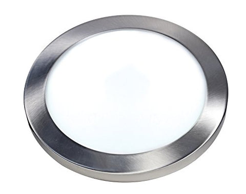 "Satco S9651 Series 25 watt 13"" Flush Mount LED Fixture 3000K Round Shape Brushed Nickel Finish 120 Volts"