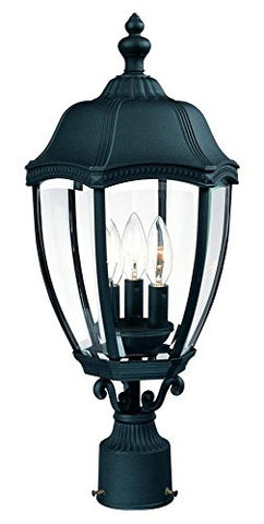 "Dolan Designs 955-50 Roseville Outdoor Post Light, 22"", Black - llightsdaddy - Dolan Designs - Post Lights"