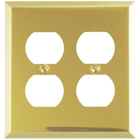 Amerelle Century Double Duplex Steel Wallplate in Polished Brass - llightsdaddy - AMERELLE - Wall Plates