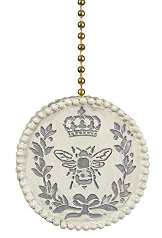 Antiqued Queen Bee Ceiling Fan Light Dimensional Pull