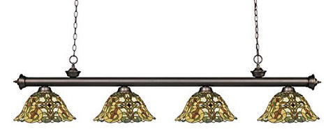 4 Light Billiard Light 200-4OB-R14A - llightsdaddy - Z-Lite - Billiard & Pool Table Lights