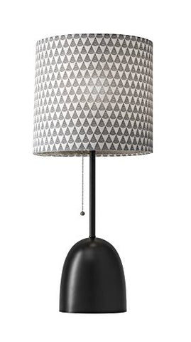 "Adesso 1500-01 Lola 29"" Modern Chic Lola Table Lamp, Black, Smart Outlet Compatible"