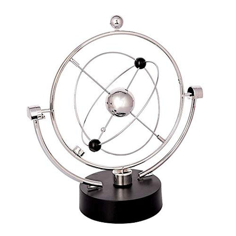 Globe Home Desk Decorations Magnetic Rocker Celestial Orbital Ornaments USB Plug-in Crafts Desktop Globe Globes of The World with Stand (Color : Silver, Size : Free Size) - llightsdaddy - ROBDAE - Fixture Replacement Globes & Shades