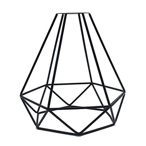 AMEOY Geometric Pendant Metal Lamp Guard Retro Vintage Ceiling Light Shade Iron Cage for Home Restaraunt Decoration
