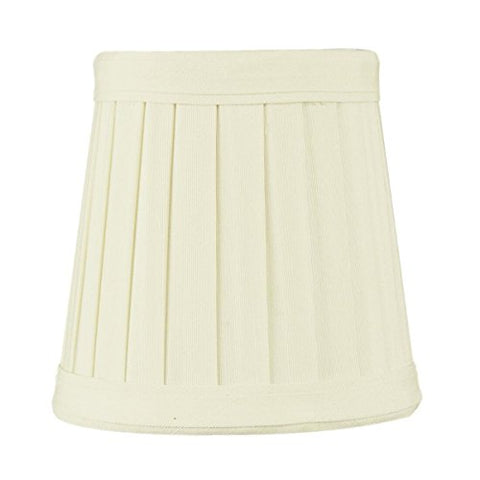 3x4x4 Crisp Linen Pleated Clip-on Candelabra Lampshade By Home Concept - Perfect for chandeliers, foyer lights, and wall sconces - Small, Egg Shell - llightsdaddy - HomeConcept - Lamp Shades