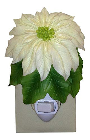 Ibis & Orchid White Poinsettia Night Light #50063 - llightsdaddy - Ibis & Orchid - Night Lights