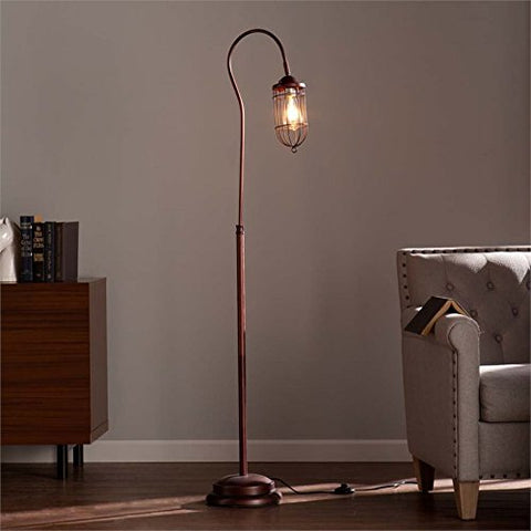 Terrance Floor Lamp Edison Bulb - llightsdaddy - Southern Enterprises - Lamp Shades