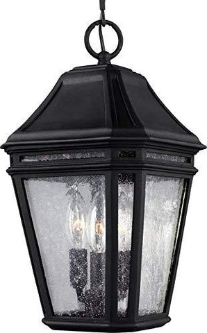 "Feiss OL11309BK Londontowne Marine Grade Outdoor Lighting Pendant Lantern, Black, 3-Light (8""W x 15""H) 180watts - llightsdaddy - Feiss - Torches"