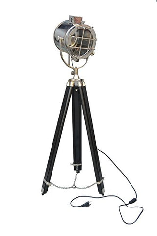Vintage Modern Collectible Chrome Searchlight Home Black Screw Tripod Nautical Spotlights By new unique collection (Chrome) - llightsdaddy - New Unique Collection - Lamp Shades