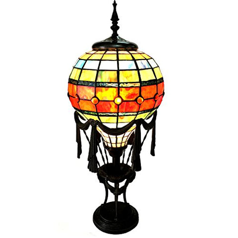 "Chloe CH15692GM11-TL1 11"" Shade Rozier Tiffany-Style 1 Light Table Lamp, 27 x 11 x 11, Multicolor"