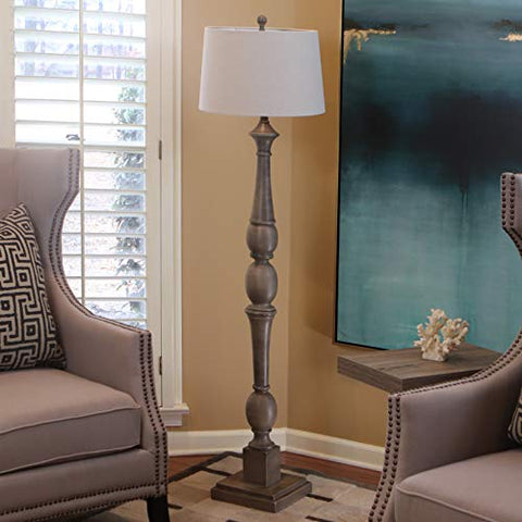 decorTherapy PL3734 Floor Lamp, Warm Grey - llightsdaddy - decorTherapy - Lamp Shades
