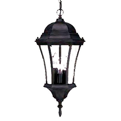 Acclaim 5026BK Brynmawr Collection 3-Light Outdoor Light Fixture Hanging Lantern, Matte Black