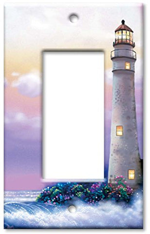 Single Gang Rocker Wall Plate - Lighthouse of Dreams - llightsdaddy - Art Plates - Wall Plates