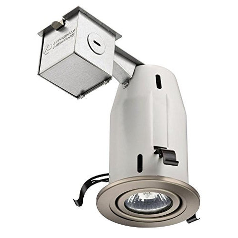 Lithonia Lighting LK3GBN M6 3 Inch Gimbal Kit with Halogen Lamp Included in Nickel - llightsdaddy - Lithonia Lighting - Halogen Bulbs