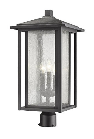 3 Light Outdoor Post Mount Fixture - 554PHXLR-BK