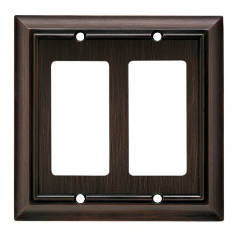 Brainerd 64237 Architectural Double Decorator Wall Plate / Switch Plate / Cover
