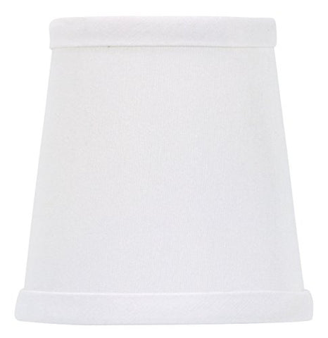 Upgradelights White 4 Inch Drum Chandelier Lamp Shades Clips onto Bulb (3x4x4.25) - llightsdaddy - Upgradelights - Lamp Shades