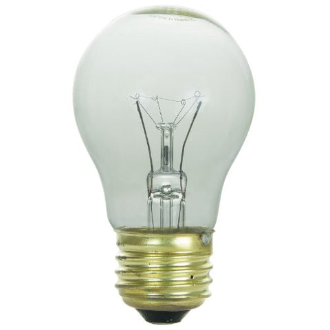 Sunlite 40A15/CL Incandescent 40-Watt, Medium Based, A15 Appliance Bulb, Clear - llightsdaddy - Sunlite - Wall Plates