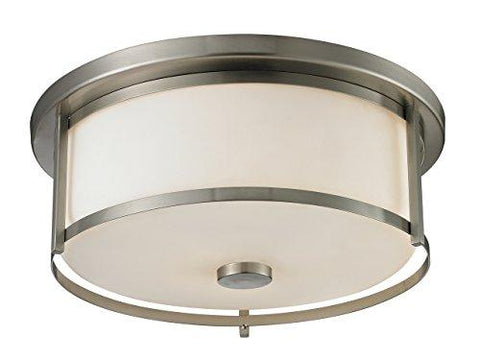Z-Lite 412F16 3 Light Flush Mount, Brushed Nickel - llightsdaddy - Z-Lite - Ceiling Lights