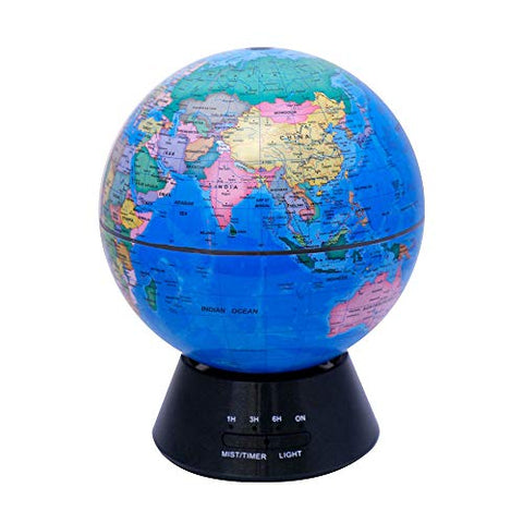 Globe Glowing World Globe 3-in-1 Globe And Constellation Built-in LED Lighting Night Scene Silent Bedroom Ultrasonic Air Purifier Education World Global Globes Of The World With Stand ( Color : Blue ) - llightsdaddy - ROBDAE - Fixture Replacement Globes & Shades