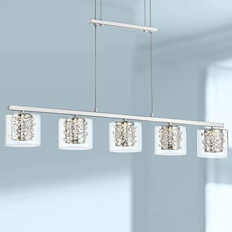 "Possini Euro Dalton 37 1/2""W Chrome 5-LED Island Chandelier - Possini Euro Design - llightsdaddy - Lamps Plus - Island Lights"