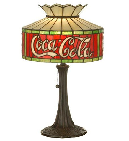 "Meyda Tiffany 74066 Coca-Cola Accent Lamp, 20"" Height - llightsdaddy - Meyda Tiffany - Billiard & Pool Table Lights"