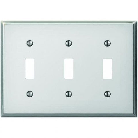 Polished Chrome Steel Switch Wall Plate - llightsdaddy - AmerTac - Wall Plates