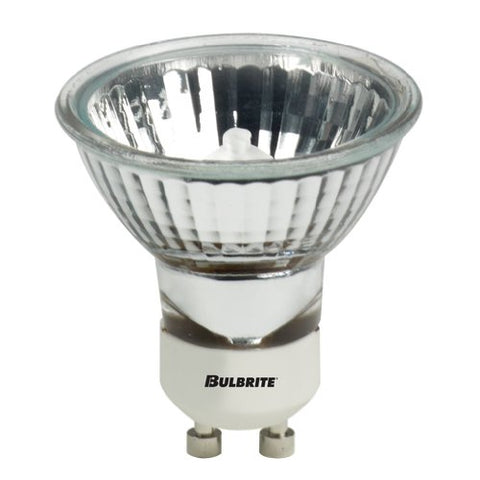 10 Pack 20 Watt MR16 Flood GU10 Base 120 Volt 2500K 2000 Hour Frost Halogen L. - llightsdaddy - Bulbrite - Halogen Bulbs