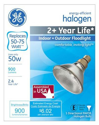 GE 50W Par38 Halo Bulb - llightsdaddy - GE Lighting - Halogen Bulbs