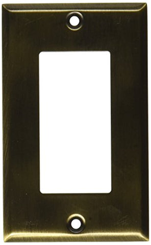 Baldwin 4754050 Single GFCI Beveled Edge Switch Plate, Antique Brass - llightsdaddy - Baldwin - Wall Plates