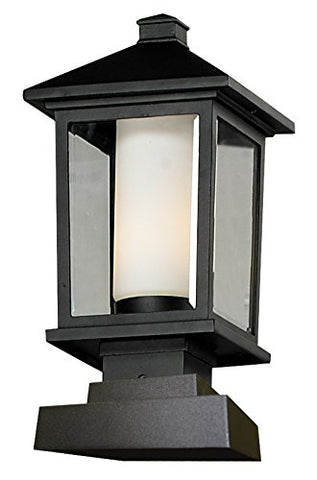 Outdoor Post Light 538PHM-SQPM-BK - llightsdaddy - Z-Lite - Flush mounts