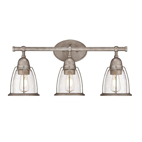 Westinghouse Lighting 6350800 North Shore Three-Light Indoor Wall Fixture, Weathered steel