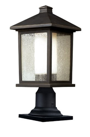 "Mesa 1 Light Outdoor Post Lantern Size: 17.75"" H x 8"" W - llightsdaddy - Z-Lite - Post Lights"