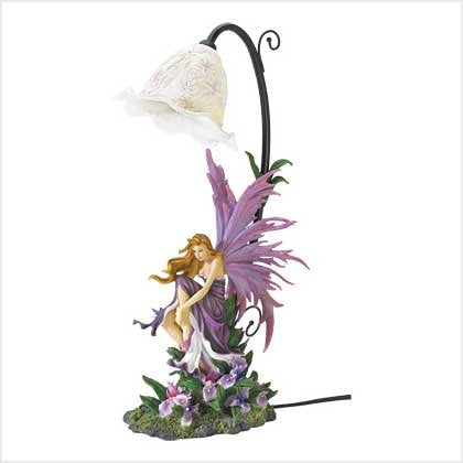 StealStreet SS-EG-38832 Orchid Fairy Table Lamp, 17.38""