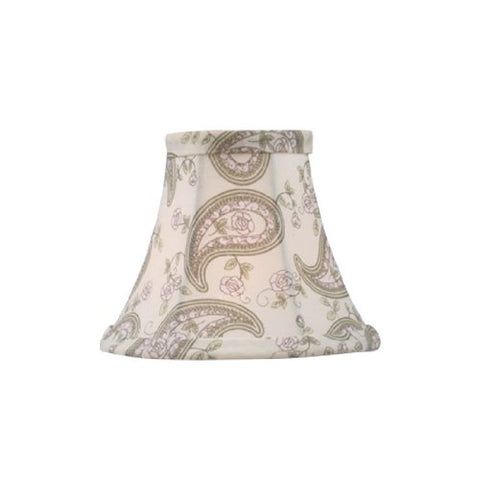 "Livex Lighting S321 Bell Clip Chandelier Shade, 5"" x 4"", Paisley Design Silk - llightsdaddy - Livex Lighting - Fixture Replacement Globes & Shades"