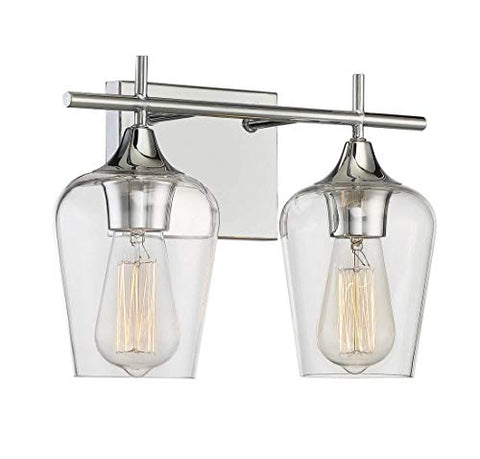 Savoy House Octave 2 Light Bath Bar 8-4030-2-11 in Polished Chrome