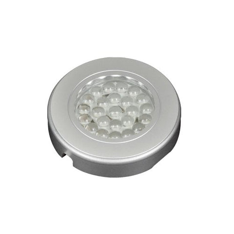 "jesco lighting sd123cv-45-40-s orionis - 2.56"" led recessed/surface mount display light, silver finish"