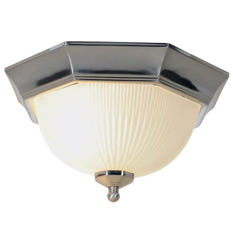 Monument 617030  Decorative Ceiling Fixture Brushed Nickel 11 In