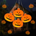 COVFEVER Halloween String Lights, 10 LED Jack-O-Lantern Battery Operated Pumpkin Lights for Halloween Decorations (Orange)