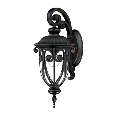 Acclaim 2102BK Naples Collection 1-Light Wall Mount Outdoor Light Fixture, Matte Black