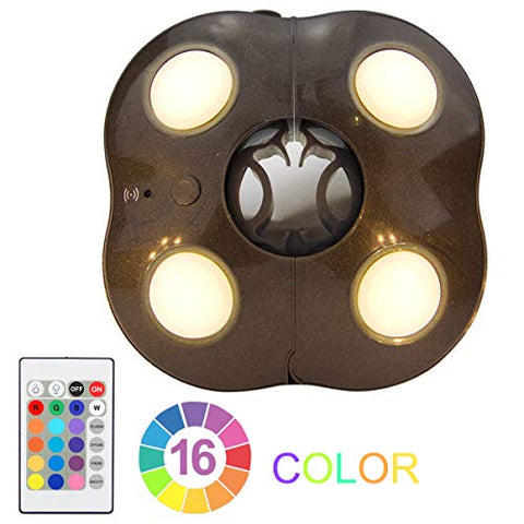 Umbrella Lights LUXSWAY Super Bright Patio Night Light 4 Modes 16 Colors Battery Operated Remote Control Camping Tent Lighting Light - llightsdaddy - LUXSWAY - Umbrella Lights