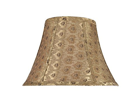 "Aspen Creative 30018 Transitional Bell Shape Spider Construction Lamp Shade in Pumpkin Gold, 13"" wide (7"" x 13"" x 9 1/2"") - llightsdaddy - Aspen Creative - Lamp Shades"